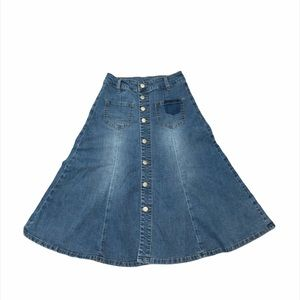 3/$30 Vintage Denim Skirt